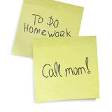 Call mom reminder. Royalty Free Stock Photography
