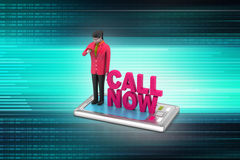 Call now concept Stock Images