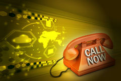 Call now concept Royalty Free Stock Photo