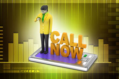 Call now concept Royalty Free Stock Image