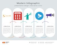 Call now infographics design. Infographics design  and call now, bingo, lucky draw, plug and play, advocacy icons can be used for workflow layout, diagram Royalty Free Stock Image