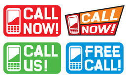 Call now label Royalty Free Stock Image