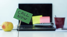 Call now memo Royalty Free Stock Image