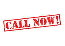 CALL NOW!. Red Rubber stamp over a white background Royalty Free Stock Photo