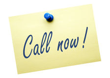 Call now reminder royalty free stock photo