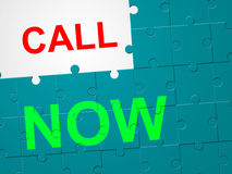 Call Now Represents At This Time And Communicate Royalty Free Stock Photo