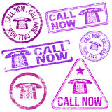 Call Now Stamps Stock Image