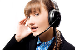 Call operator Stock Photo