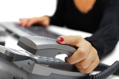 Free Call Operator Is Picking Up Phone Royalty Free Stock Photography - 36746927