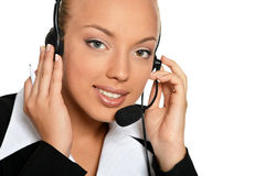 Call operator woman Royalty Free Stock Photo