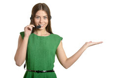 Call operator woman Royalty Free Stock Photography