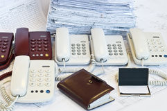 Call operator working place Royalty Free Stock Photo