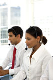 Call operators team Royalty Free Stock Image