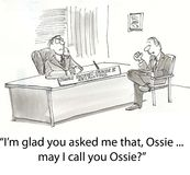 Call Ossie. Worker uses friendly term for boss Stock Photos