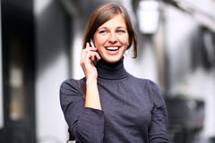 Call by phone Stock Photography