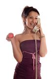 Call phone apple stock image