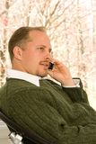 Call phone conversation Royalty Free Stock Photography