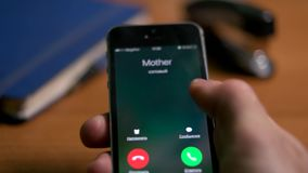 A call on the phone mom, dad, sister, favorite stock video footage