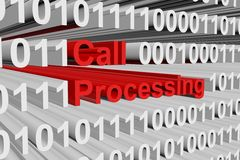 Call processing. In the form of binary code, 3D illustration Stock Photography