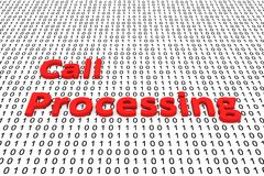 Call processing. In the form of binary code, 3D illustration Stock Images
