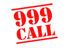 999 CALL. Red Rubber Stamp over a white background Stock Photo