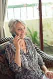 Call from retiree Royalty Free Stock Image