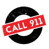 Call 911 rubber stamp Stock Images