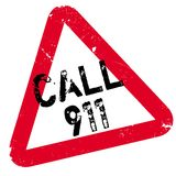 Call 911 rubber stamp Stock Image