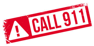 Call 911 rubber stamp Stock Photo