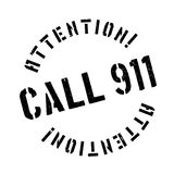 Call 911 rubber stamp Stock Photography