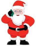Call Santa. Santa Claus taking a cell phone call Stock Images