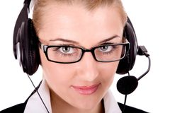 Call service agent Royalty Free Stock Photos
