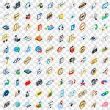 100 call service icons set, isometric 3d style Royalty Free Stock Photos