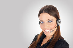 Call service operator Stock Image