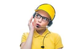 Call service operator Stock Image