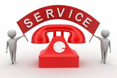 Call For Service /Phone Service Stock Images
