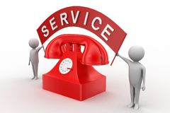 Call For Service /Phone Service Royalty Free Stock Photos