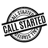 Call Started rubber stamp Royalty Free Stock Image