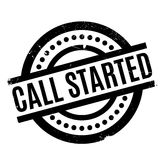 Call Started rubber stamp Royalty Free Stock Photo