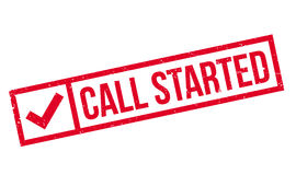 Call Started rubber stamp Stock Image