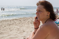 Call from the summer vacation Stock Photo