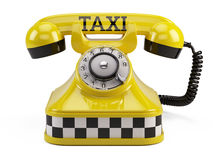 Call a taxi service concept Royalty Free Stock Image