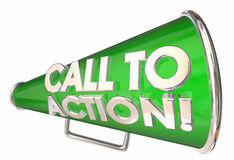 Call to Action Bullhorn Megaphone Message Words Royalty Free Stock Images