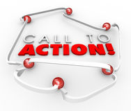 Call to Action System Network Connected Balls Marketing Advertis Stock Photography