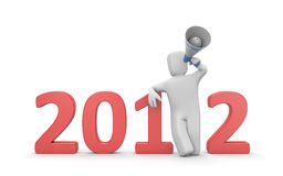 Call to New Year Stock Images