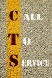 Call to service sign Royalty Free Stock Image