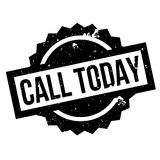 Call Today rubber stamp Stock Photo