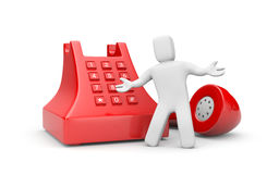 Call us. Business concept. on white Stock Photos
