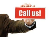 Call us Stock Image