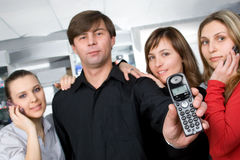 Call us anytime Royalty Free Stock Image